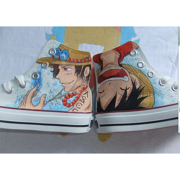 one piece anime shoes one piece custom anime painted shoes