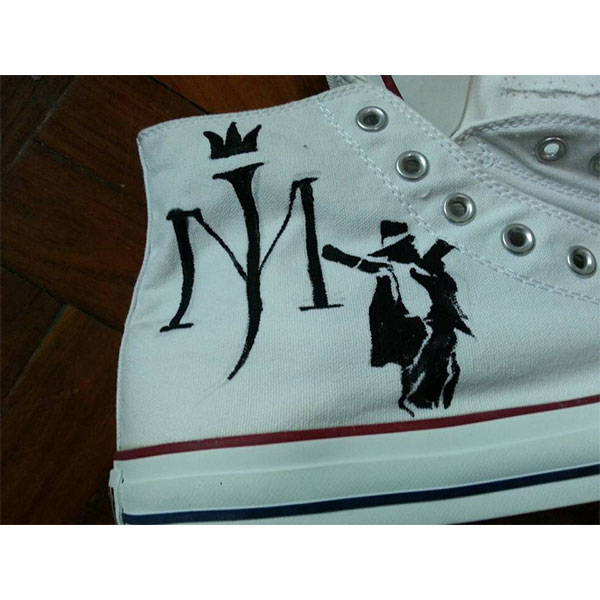Michael Jackson Shoes Custom MJ Shoes Painted on high top Shoes-1