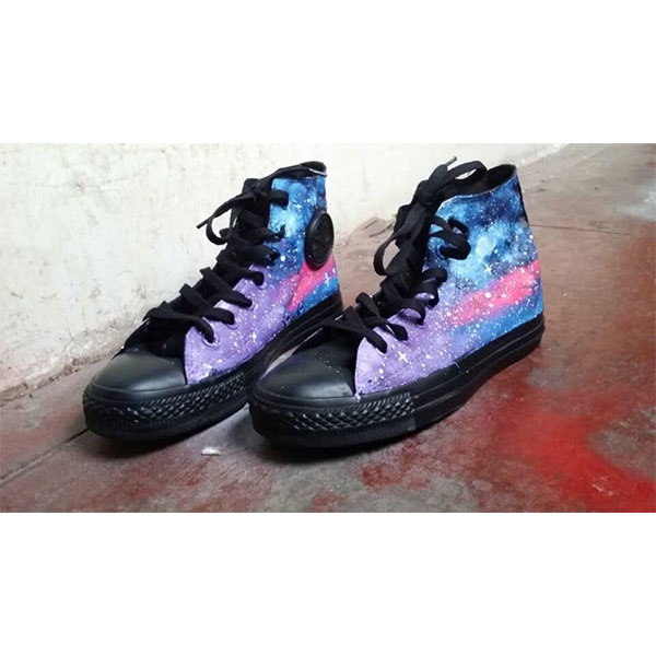 Custom Painted Galaxy Shoes Galaxy Custom Shoes