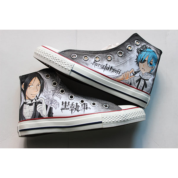anime black butler shoes anime hand shoes painting