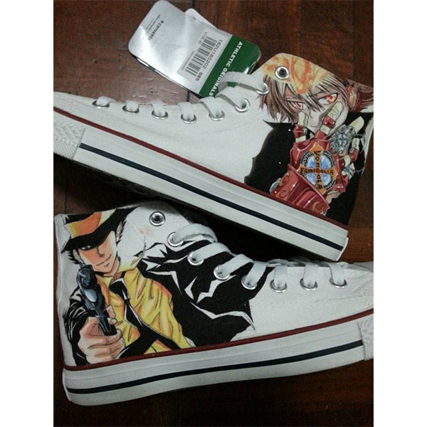 Hitman Reborn Anime Shoes Hitman Reborn High Top Shoes Hitman Re