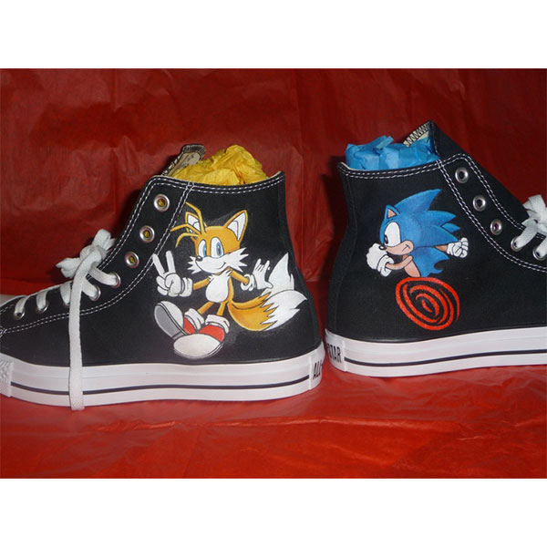 Custom Shoes Sonic and Tails
