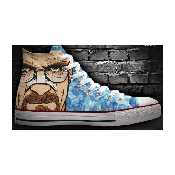 walking dead high tops custom hand painted the walking dead
