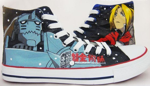 Full Metal Alchemist Shoes Edward Elric Custom shoes Full Metal