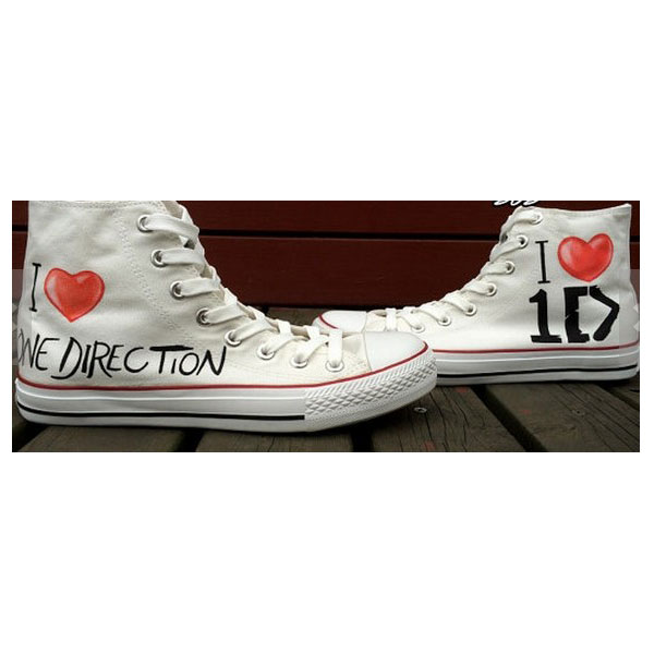 One Direction Shoes LOVE Hand Painted Shoes Custom Shoes Canvas
