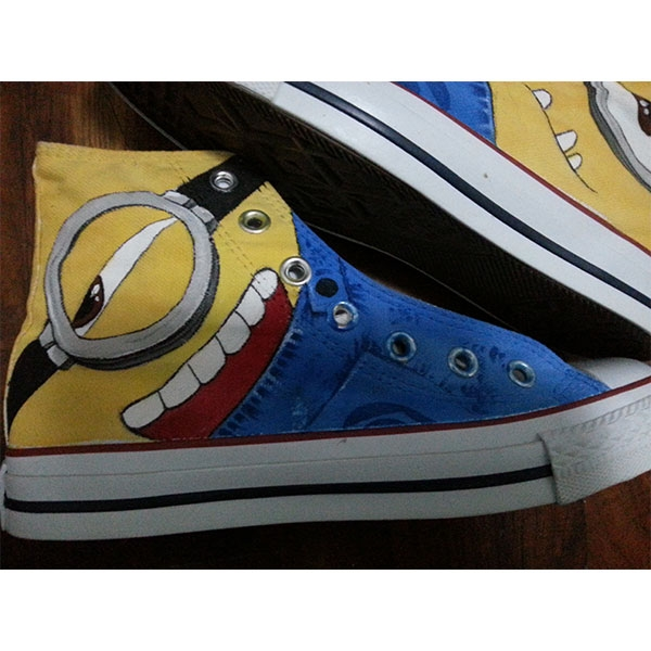 minion shoes minion sneakers minions sneakers painted shoes-2