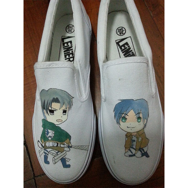 attack on titan anime shoes attack on titan hand painted shoes