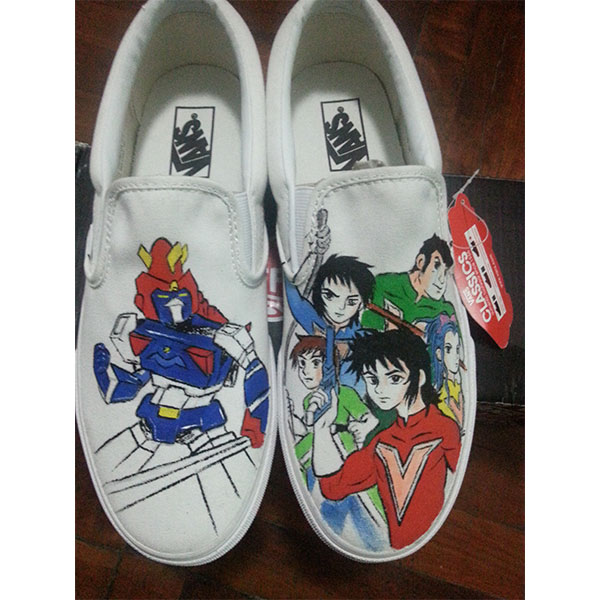 Chōdenji Machine Voltes V Vans custom Vans Shoes Hand Painted Sh-1