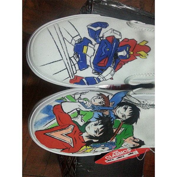 Chōdenji Machine Voltes V Vans custom Vans Shoes Hand Painted Sh