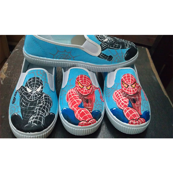 Spider-Man Shoes Custom sneakers canvas shoes hand painted shoes