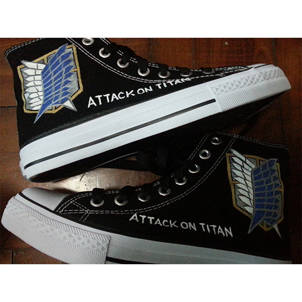 attack on titan anime shoes attack of titan shoes custom shoes