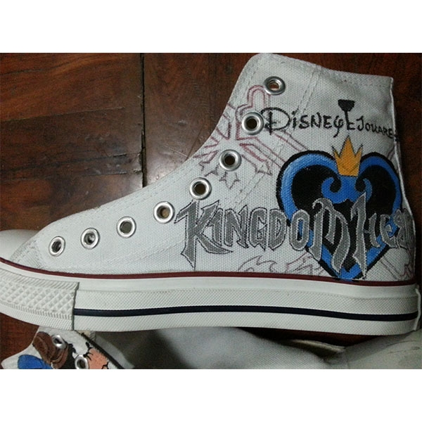 kingdom hearts anime shoes kingdom hearts anime hand painted sho-1