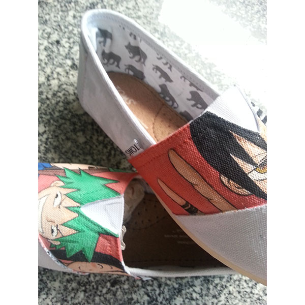 death the kid shoes soul eater death the kid custom hand painted-4