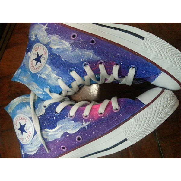 galaxy high tops shoes galaxy shoes men/women-3