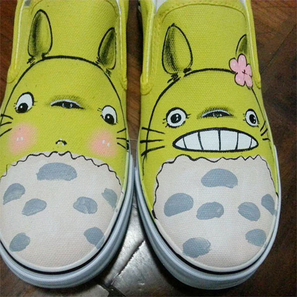 Totoro Anime Shoes Custom Totoro Painted Anime Shoes