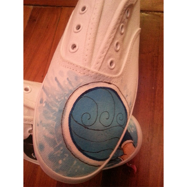 Korra Painted Canvas Shoes Korra Shoes Avatar The Legend of Korr-3