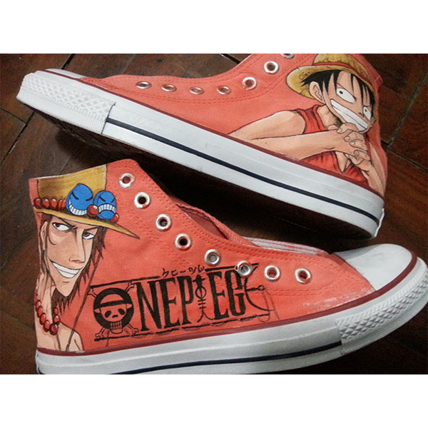 anime one piece shoes custom one piece Painted Canvas Shoes