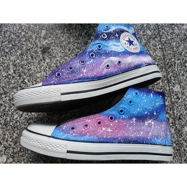 painted shoes galaxy shoes Custom galaxy hand painted shoes-1