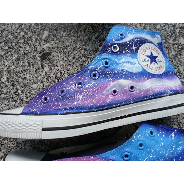 painted shoes galaxy shoes Custom galaxy hand painted shoes-3