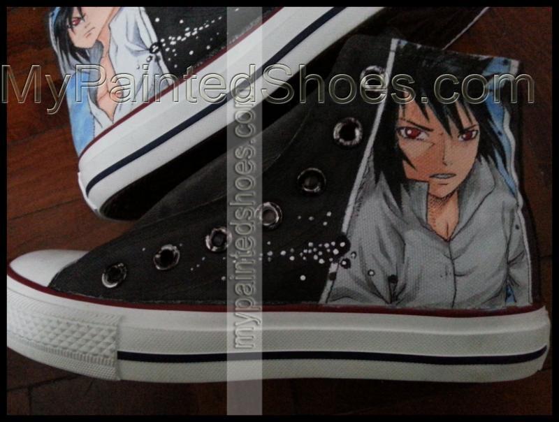anime naruto hand painted sneakers anime naruto sasuke shoes-2