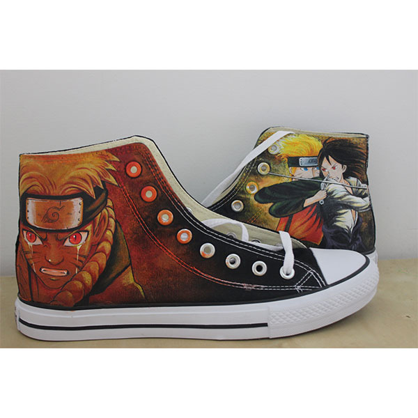anime naruto hand painted sneakers anime naruto sasuke shoes