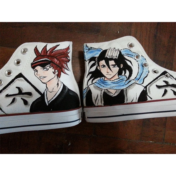 bleach anime shoes Bleach anime hand painted shoes bleach anime