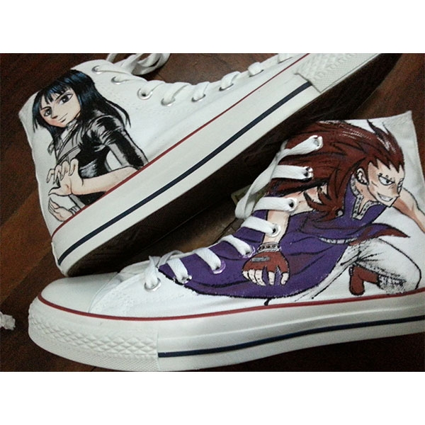 Custom Shoes Fairy Tail Gajeel One Piece Nico Robin Hand Painted