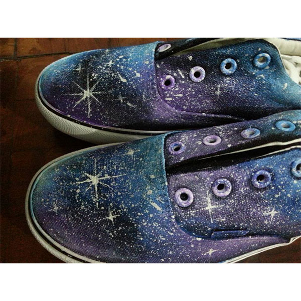 blue canvas galaxy shoes custom galaxy shoes-3