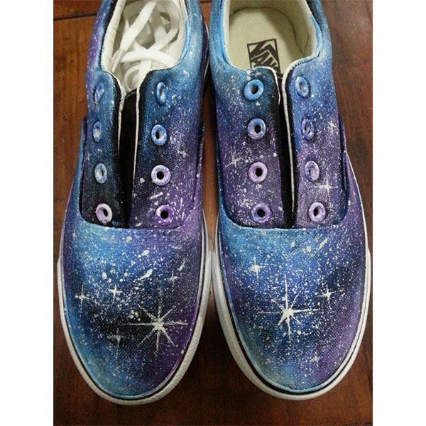 blue canvas galaxy shoes custom galaxy shoes