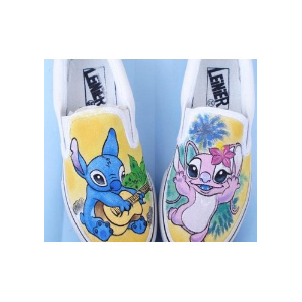 91aed3f686345 lilo and stitch sneakers hand painted stich anime shoes