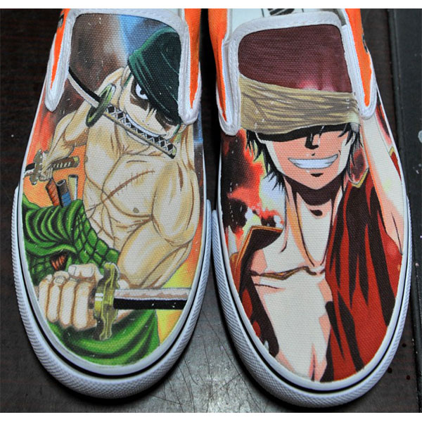 one piece zoro/luffy anime shoes custom one piece anime shoes-3