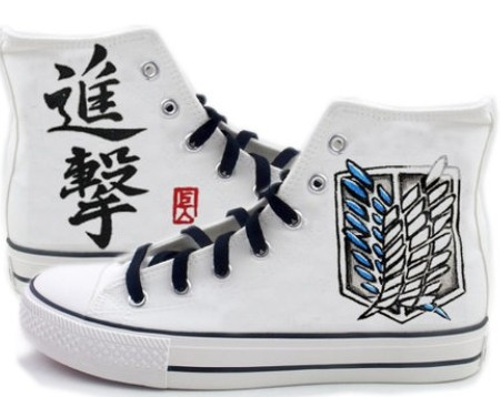 attack on titan anime shoes custom attack on titan High-top Pain-1
