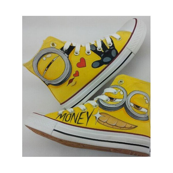 Painted Custom Shoes Despicable Minions Custom Shoes Custom mini