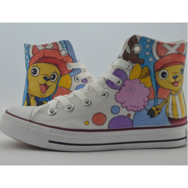 One Piece Custom Shoes Custom chopper Painted Shoes Canvas Shoes