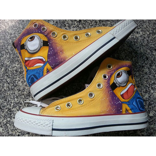 The Minions Despicable Me Hand Painted Shoes Canvas Sneakers for-2