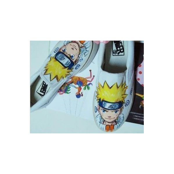 Naruto Uzumaki Hand Painted Slip-on Canvas Sneaker Shoes for Kid