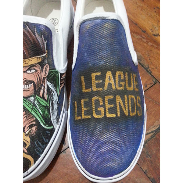 League Of Legends Canvas Shoes Hand Painted Custom Slip On Vans -1