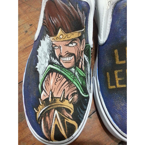 League Of Legends Canvas Shoes Hand Painted Custom Slip On Vans -2
