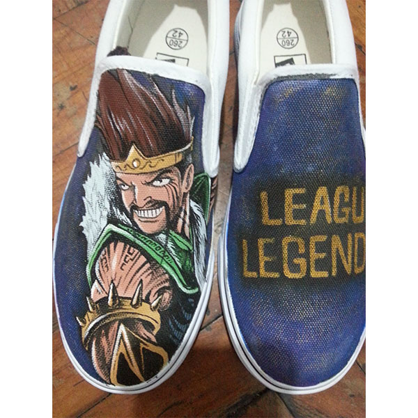 League Of Legends Canvas Shoes Hand Painted Custom Slip On Vans