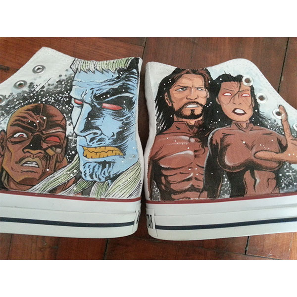 custom shoes amory wars Men/Womens Shoes Hand Painted White Fash-1