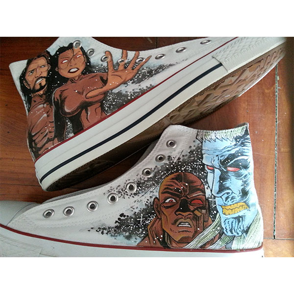 custom shoes amory wars Men/Womens Shoes Hand Painted White Fash
