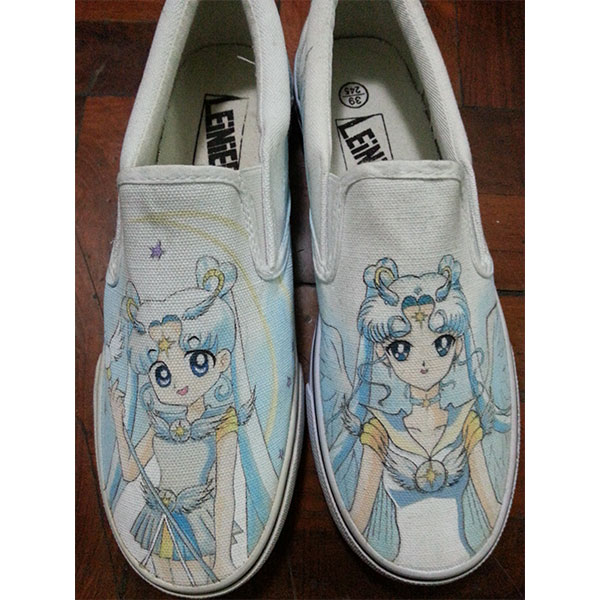 Anime sailor moon Vans Shoes for Kids/Adult Hand Painted Canvas