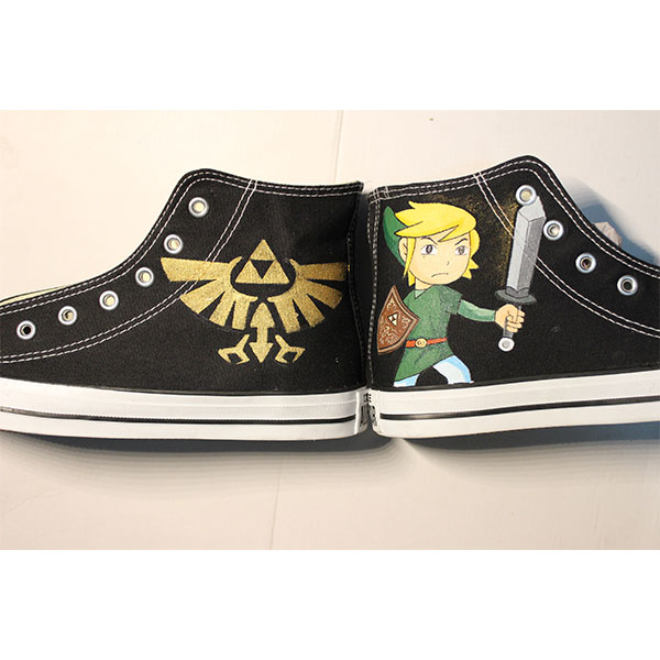 majora's mask shoes zelda triforce symbol shoes Unisex Hand Pain-2