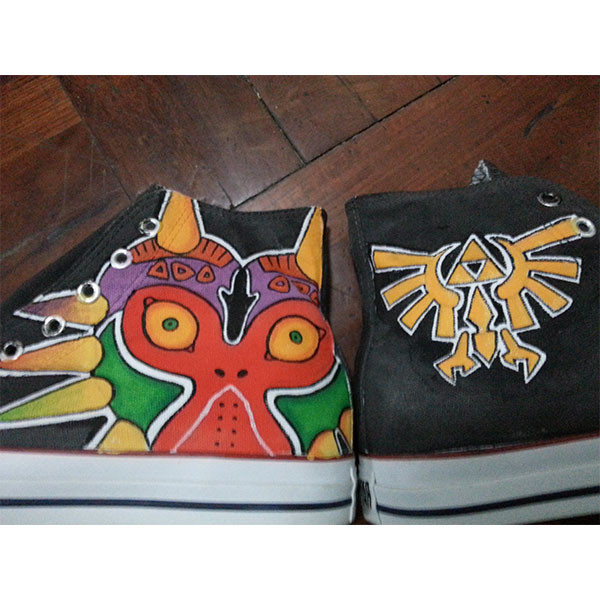 majora's mask shoes zelda triforce symbol shoes Unisex Hand Pain-3