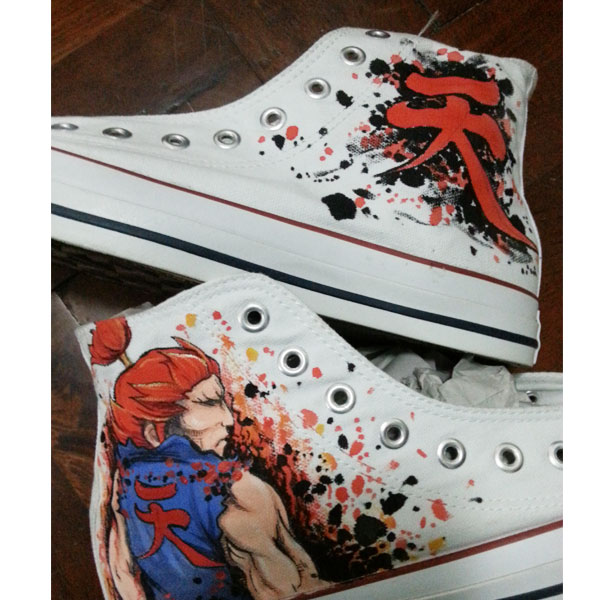 akuma hand-painted shoes Unisex Hand Painted High Top Sneaker-1