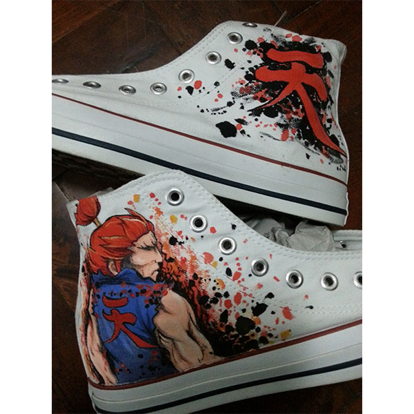 akuma hand-painted shoes Unisex Hand Painted High Top Sneaker