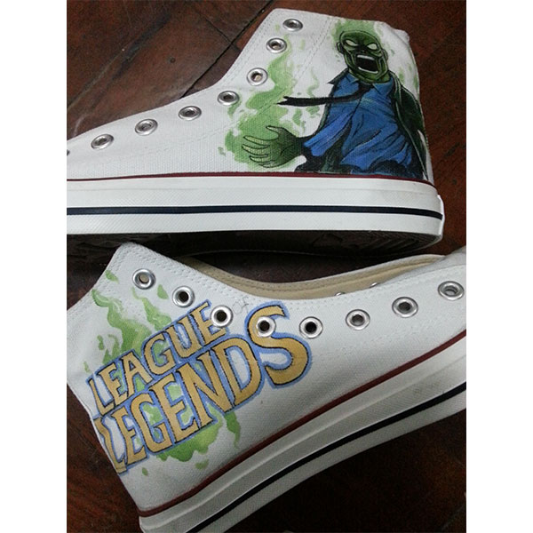 League of Legends Hand Painted High-top Canvas Shoes
