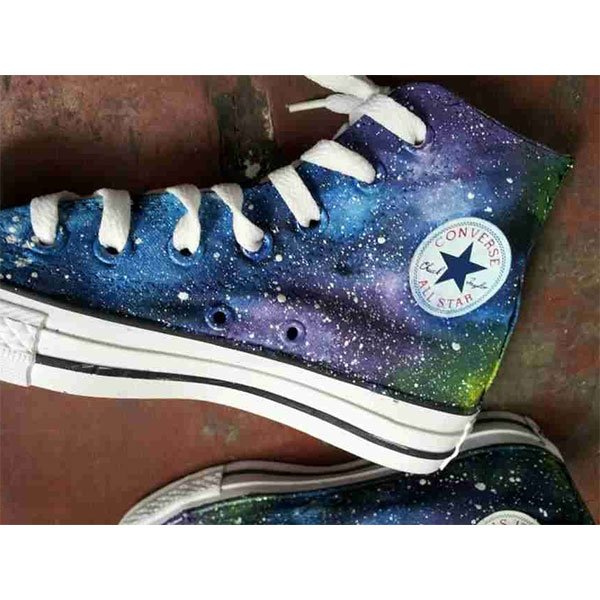 2014 New Galaxy Hand Painted High-top Canvas Sneaker Shoes-2