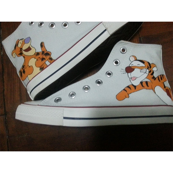 Tigger Canvas Shoes disney High-top Painted Canvas Shoes-3