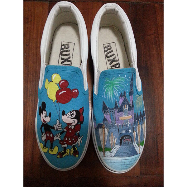 Disney Mickey Mouse Anime Painted Shoes-1